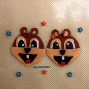 chipmunck cupcake