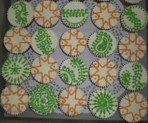 deepavali cupcake