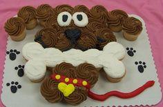 dog pull apart cake