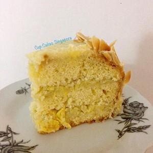 durian cake slice