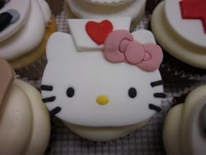 kitty nurse cupcake