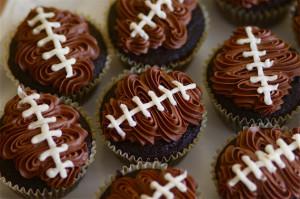 rubgy cupcakes