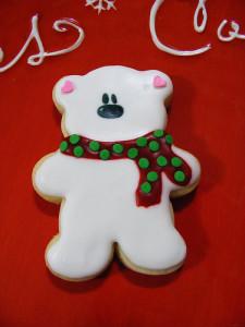 snow bear cookie