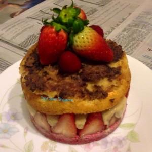 straberry fraisier cake