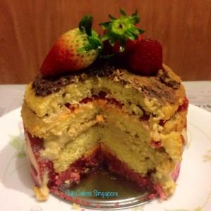 strawberry fraise cake 1