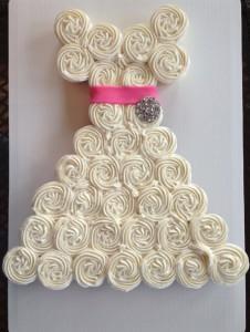 wedding dress cupcake